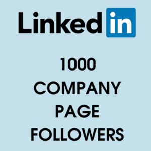 buy 1000 linkedin page followers