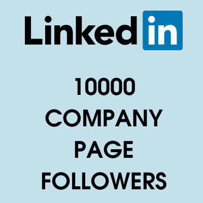 10000 linkedin page followers
