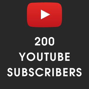 buy 200 Youtube subscribers