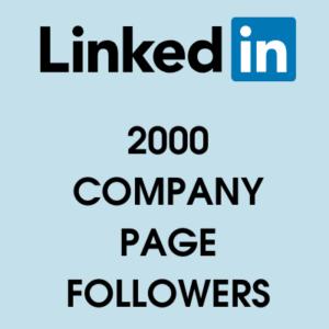 buy 2000 linkedin page followers